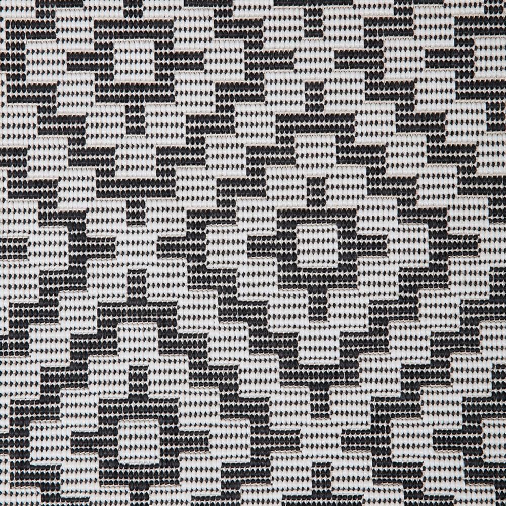 AGADIR matto 80 x 200 cm (Mustavalkoinen)  Parvekematot  Asko