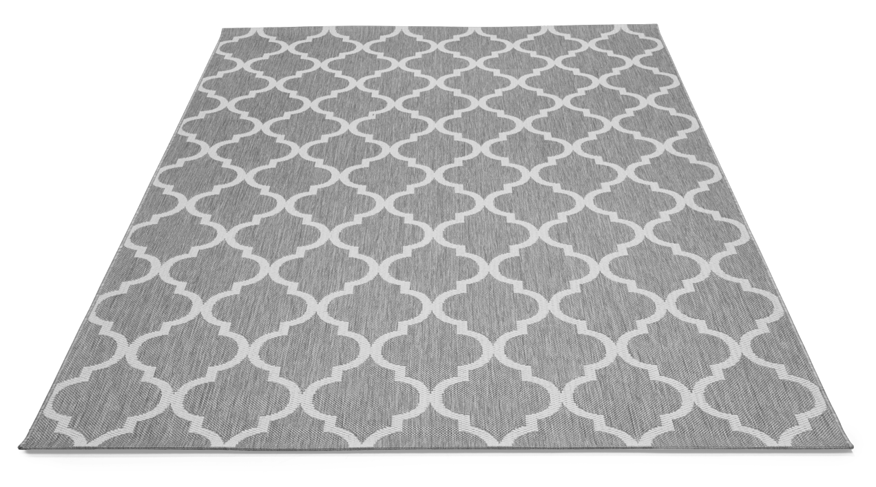 DUBAI matto 160 x 230 cm (Vaaleanharmaa)  Parvekematot  Asko